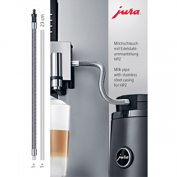 Jura Milk Pipe with Stainless Steel Casing for GIGA HP2 - #24113