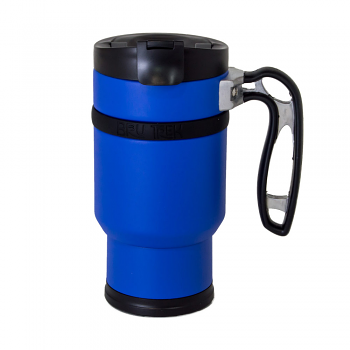 Planetary Design Double Shot Travel Press with Bru-Stop 16 fl. oz. - Mountain Lake Blue - DS0916