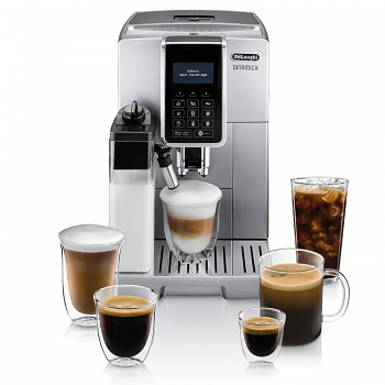 DeLonghi Dinamica Latte Crema Super Automatic Espresso Machine Silver - ECAM35075SI