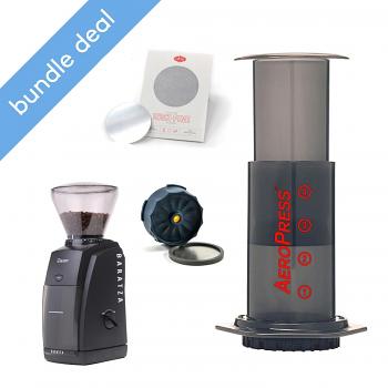 Aerobie Aeropress Coffee Maker and Baratza Encore Bundle