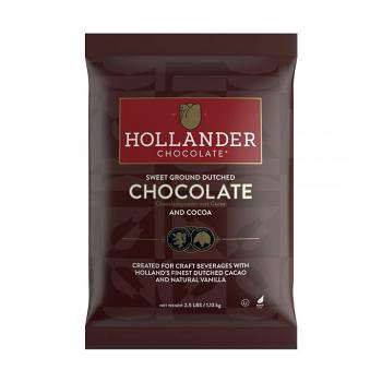 Hollander Sweet Ground Dutched Cocoa & Chocolate Powder - 2.5lb / 1.13kg Bag