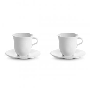 Delonghi Ceramic Cappuccino Cups & Saucer by Tognana Set of 2 - DLSC309