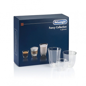 Delonghi Double Walled Glasses Fancy Collection Set of 6 - DLSC302