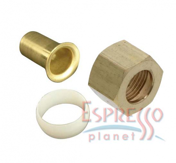 """3/8"""" Brass Compression Fitting Kit for 3/8"""" PVC Plastic Tubing"""