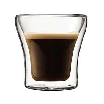 Bodum Assam 2 pcs glass, double wall, extra small, 0.1 l, 3 oz