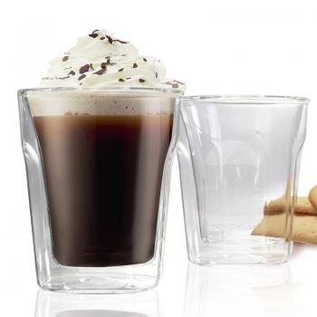 Danesco Double Wall Cappuccino Glass Set of 2 - 6.8oz/200ml