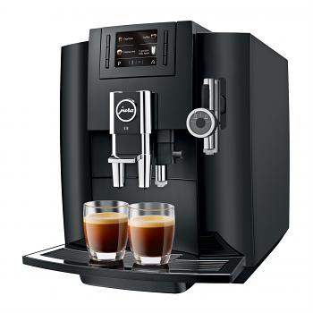 Jura Impressa E8 Super Automatic Espresso Machine Piano Black