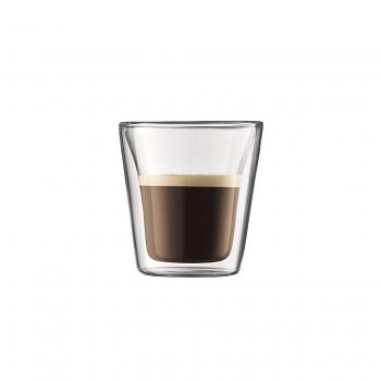 Bodum Canteen Double Wall Espresso Glasses Set of 6 - Extra Small 0.1L / 3oz