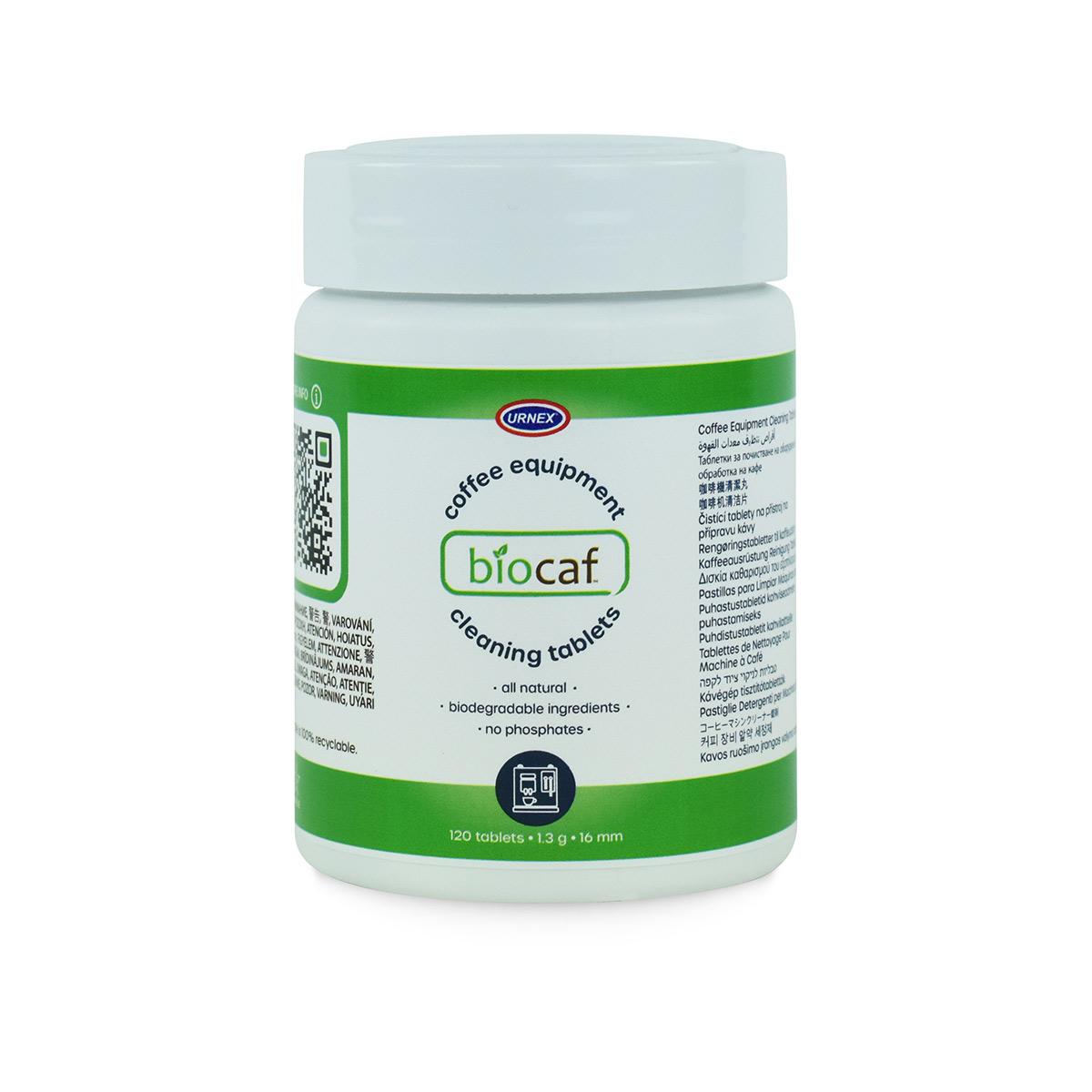 Urnex BioCaf Coffee Cleaning Tablets - Jar of 120