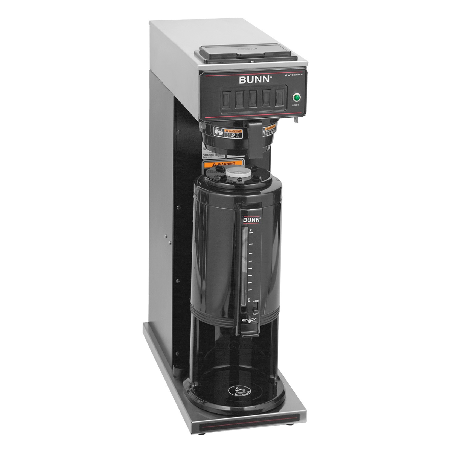 Bunn CW-15 TS Pourover Coffee Brewer for Portable Thermal Servers including base