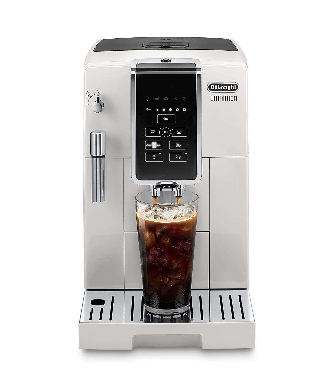 DeLonghi Dinamica TrueBrew Super Automatic Espresso Machine White - ECAM35020W