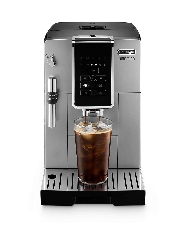DeLonghi Dinamica TrueBrew + Premium Frother Super Automatic Espresso Machine Silver - ECAM35025SB