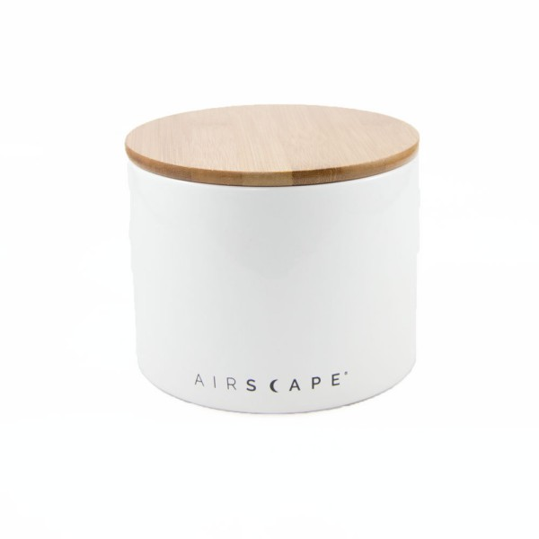 """AirScape Ceramic 32oz Coffee Canister 4"""" - White"""