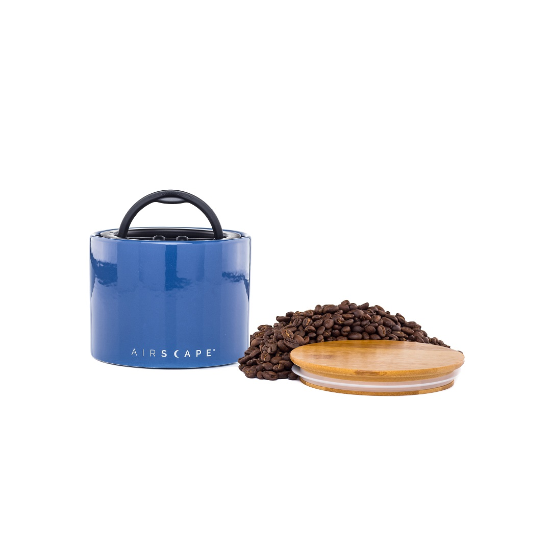 "AirScape Ceramic 32oz Coffee Canister 4"" - Cobalt Blue"