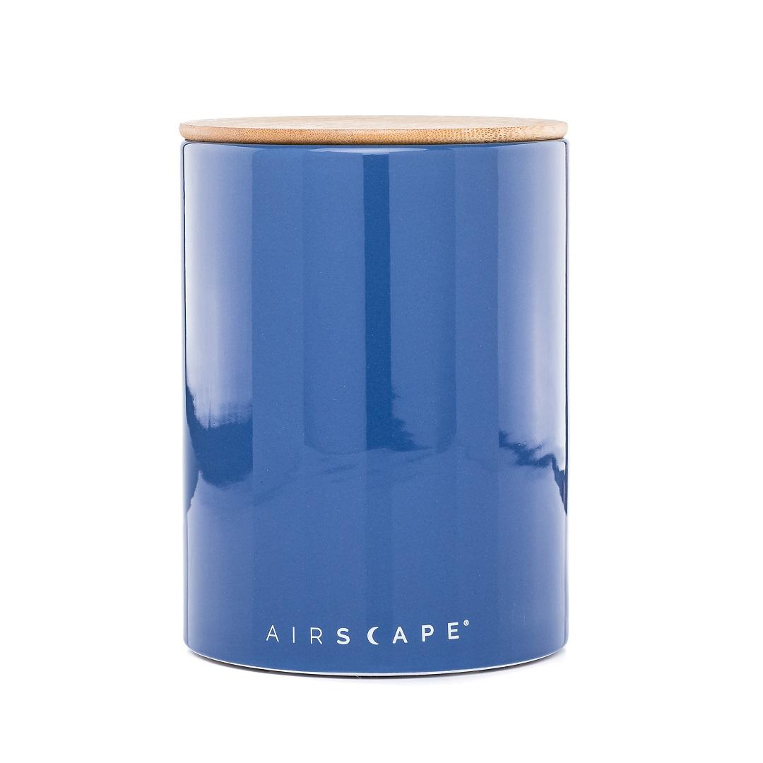 """Planetary Design AirScape Ceramic 64oz Coffee Canister 7"""" - Cobalt Blue"""