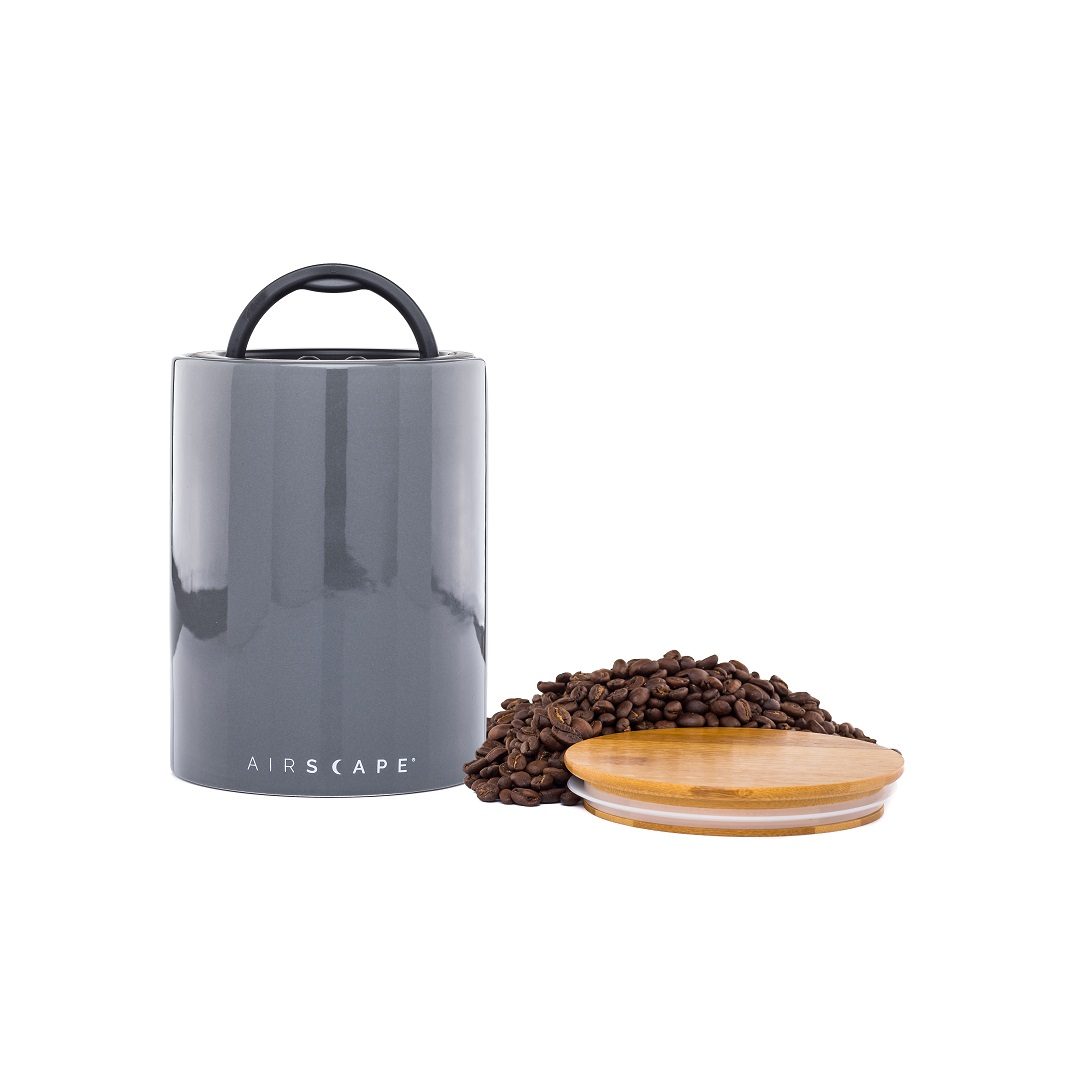 "AirScape Ceramic 64oz Coffee Canister 7"" - Slate Grey"