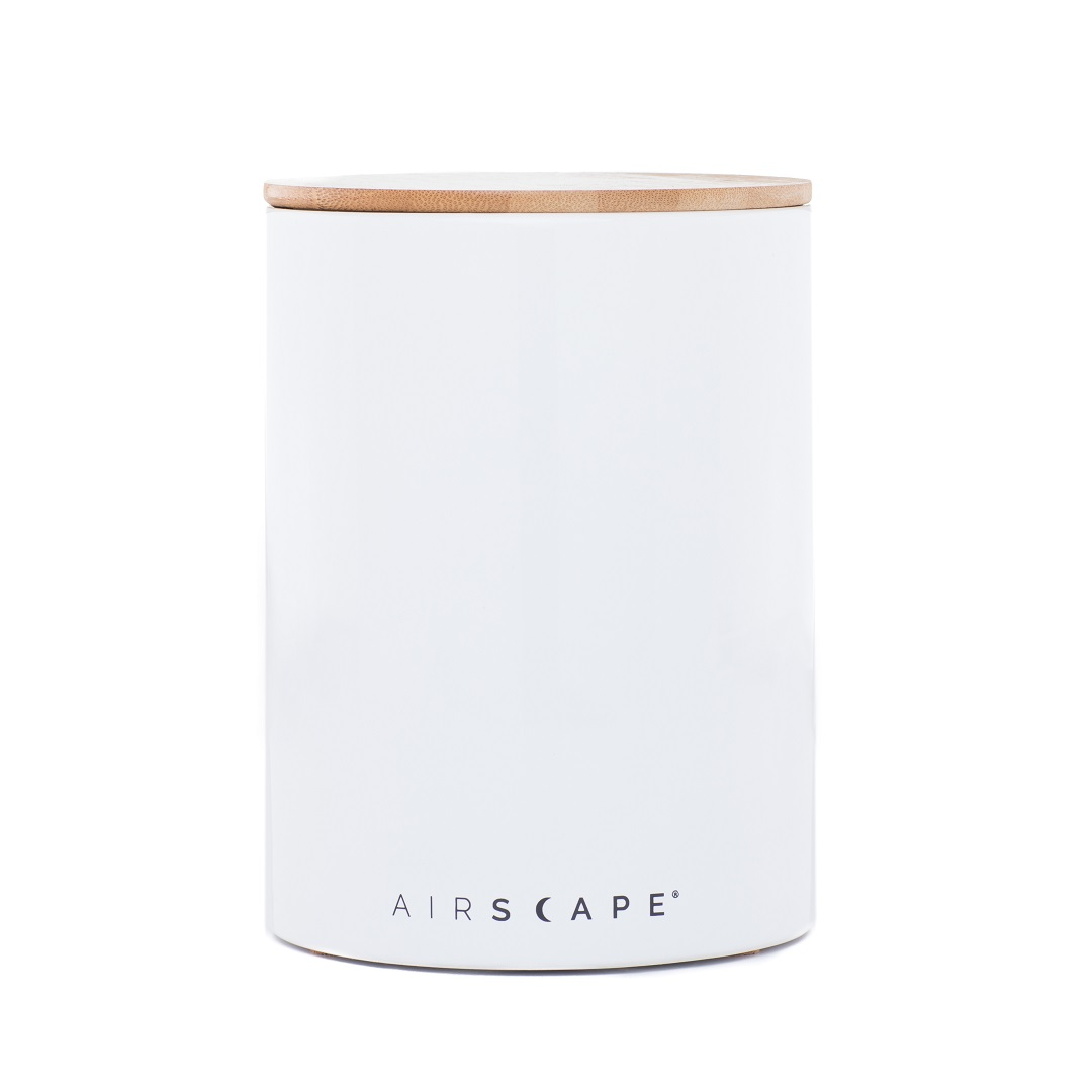 "AirScape Ceramic 64oz Coffee Canister 7"" - White"