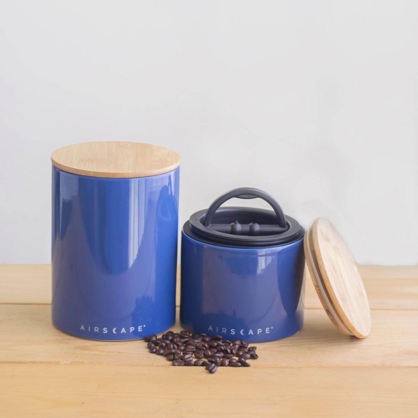 "AirScape Ceramic 64oz Coffee Canister 7"" - Cobalt Blue"