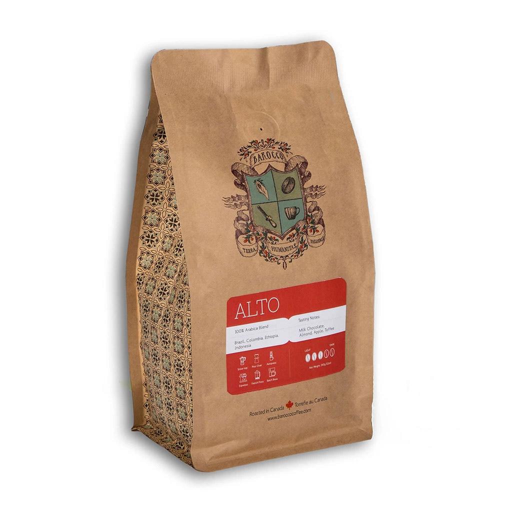 Barocco Alto (100% Arabica Blend) Whole Bean 340g/12oz. Bag