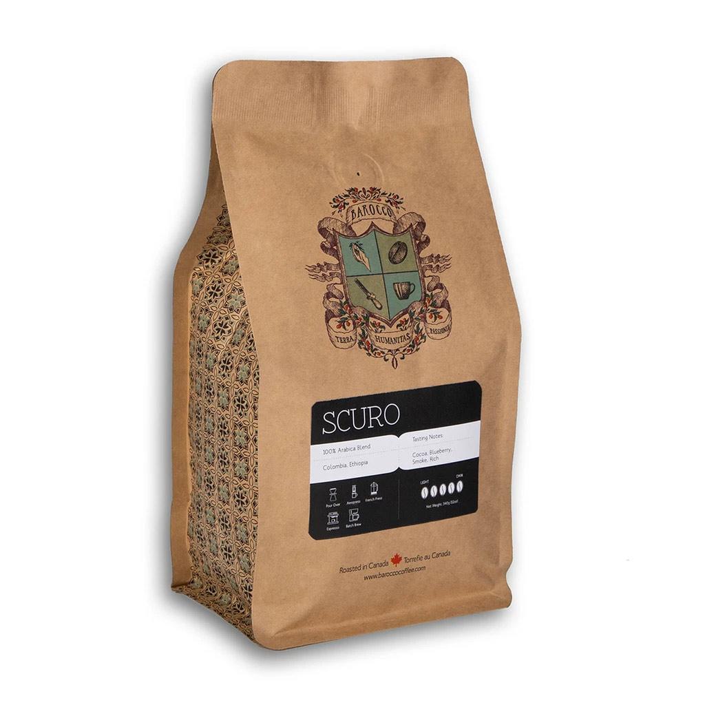 Barocco Scuro 100% Arabica Blend Whole Bean 340g/12oz. Bag