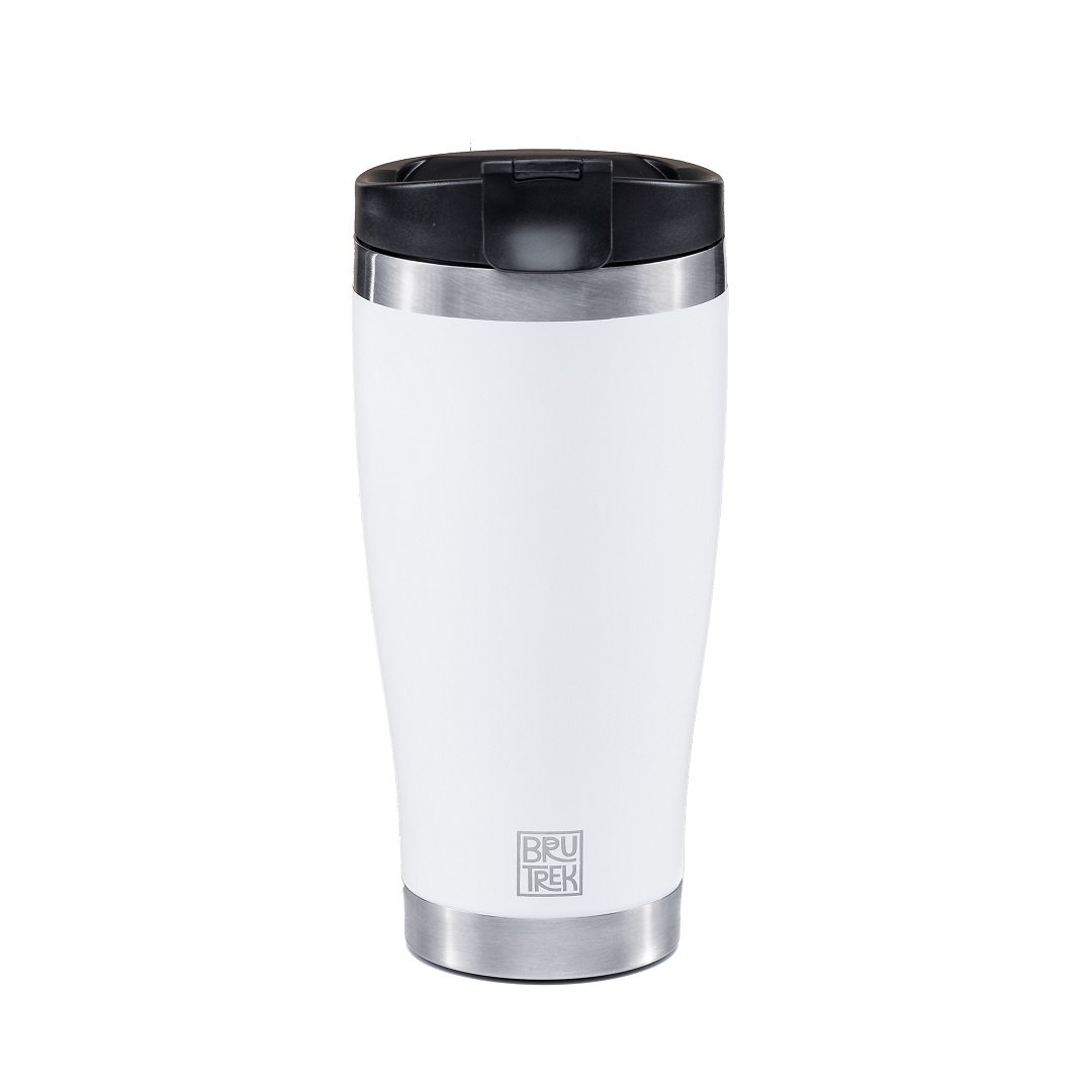 BruTrek by Planetary Design Adventure Tumbler 16oz Snowflake White - TM1316
