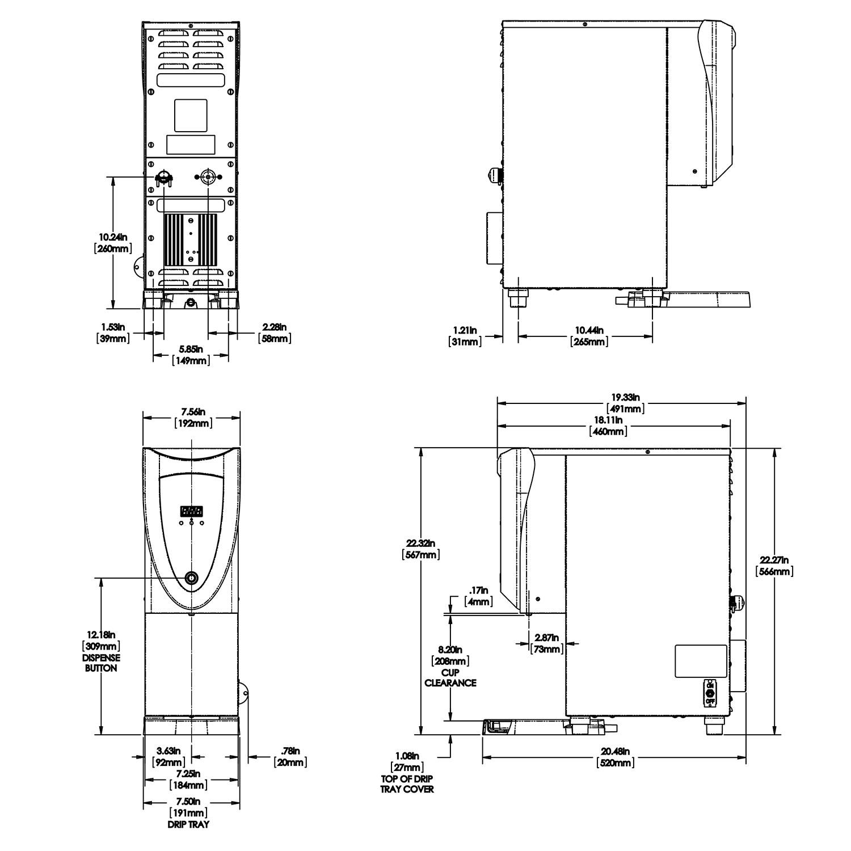 Bunn H3x Element Sst 208v 3 Gallon Hot Water Tower Espresso Planet Coffee Maker Wiring Diagram Dispenser 453006007