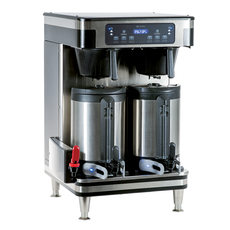Bunn Infusion Series Twin Soft Heat Coffee Brewer Stainless & Black - 51200.0101
