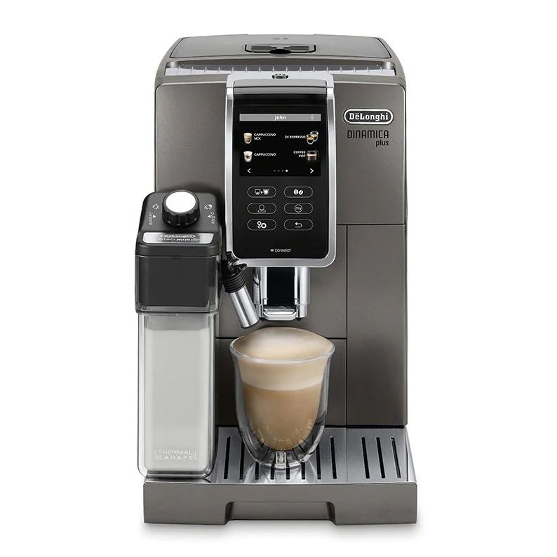 DeLonghi Dinamica Plus Titanium Super Automatic Espresso Machine - ECAM37095TI