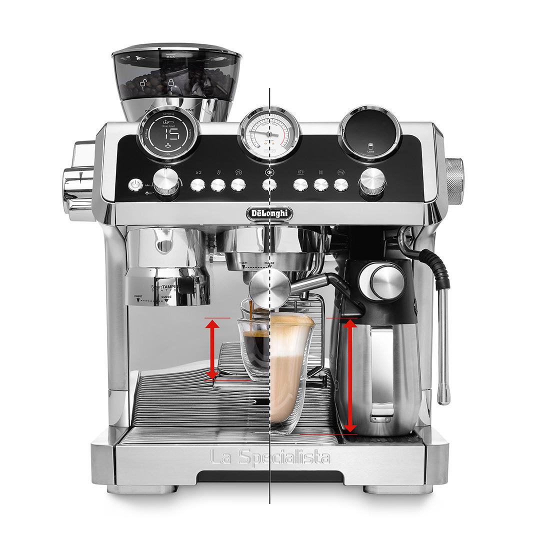 DeLonghi La Specialista Maestro Semi-Automatic Espresso Machine with Built-in Grinder Black - EC9665M