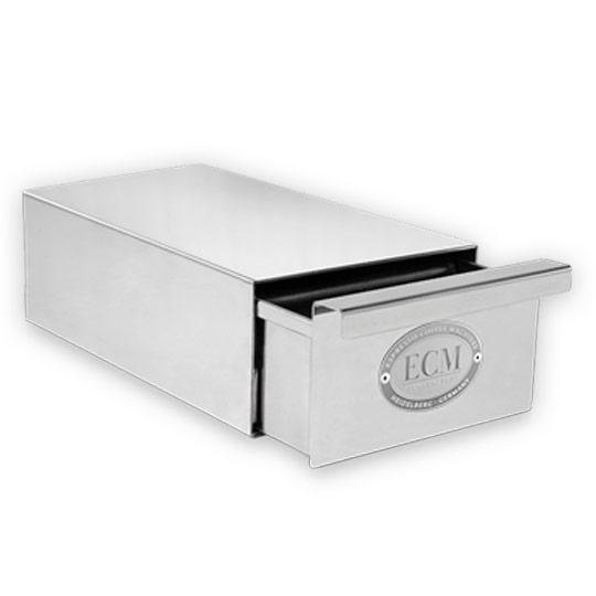 ECM Knock Box Drawer Slim Polished Stainless Steel #89625