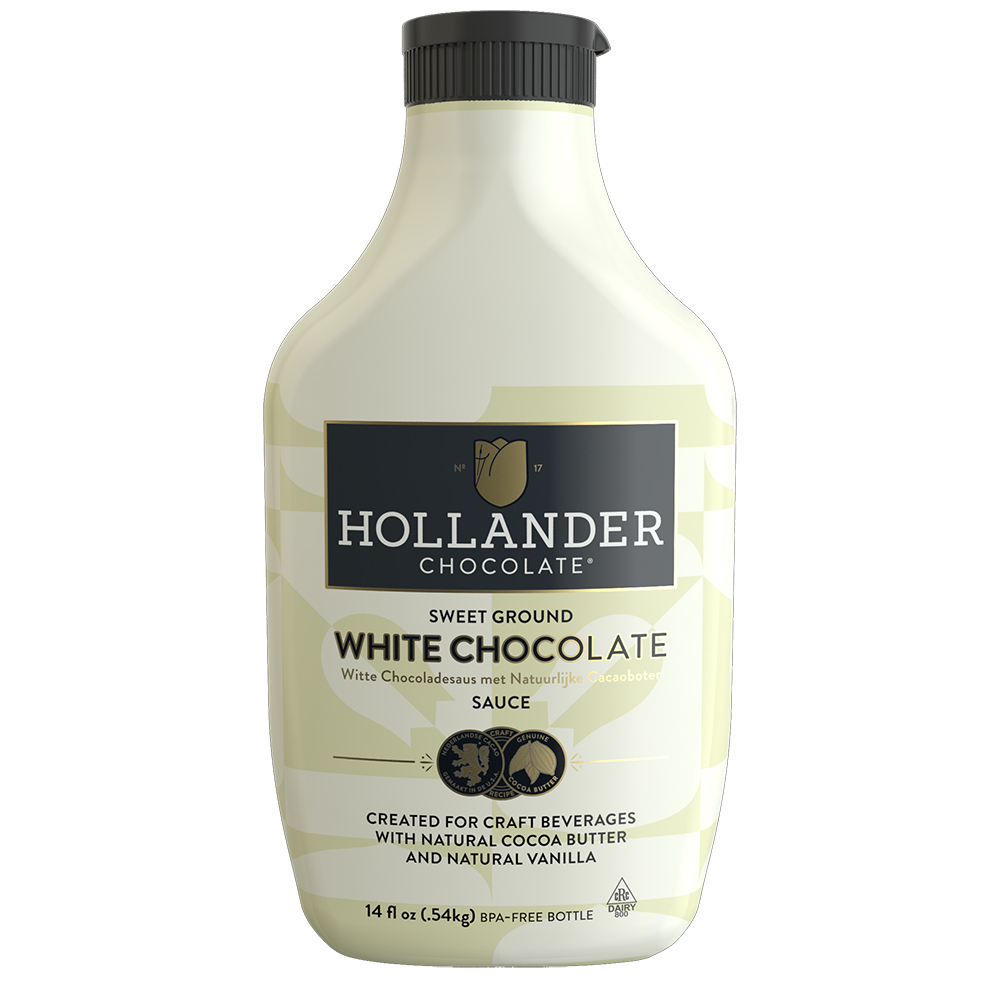 Hollander Sweet Ground White Chocolate Sauce 14oz (EXP JAN 2020)