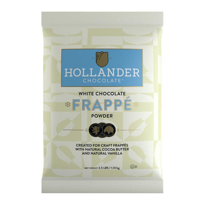 Hollander White Chocolate Frappe Powder - 2.5lb / 1.13kg Bag