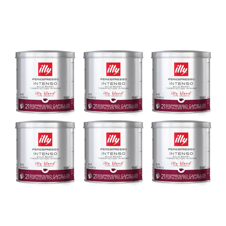 Illy IperEspresso Capsules - 21 Capsules - Intenso Bold Roast (formerly Dark Roast) - 8844 - Case of 6