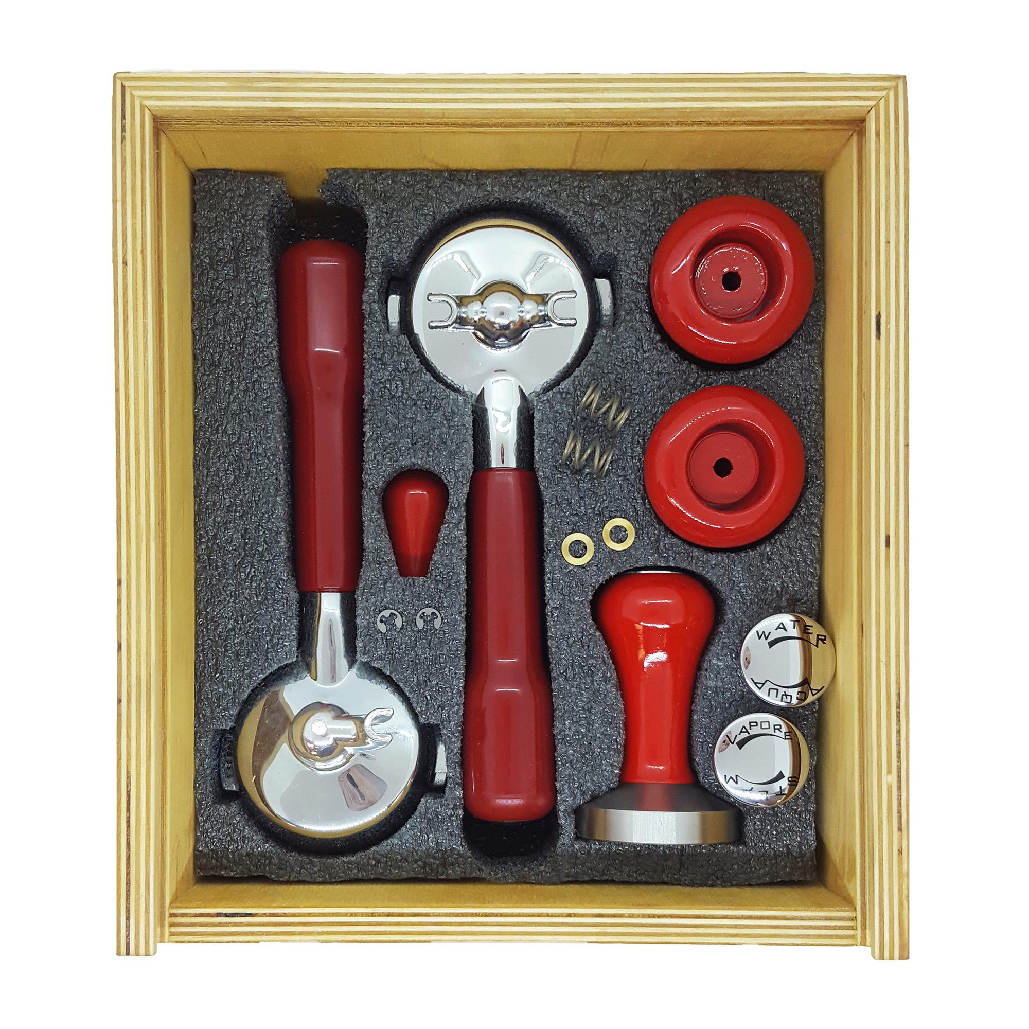 Izzo Knob and Portafilter Accessory Set - Red