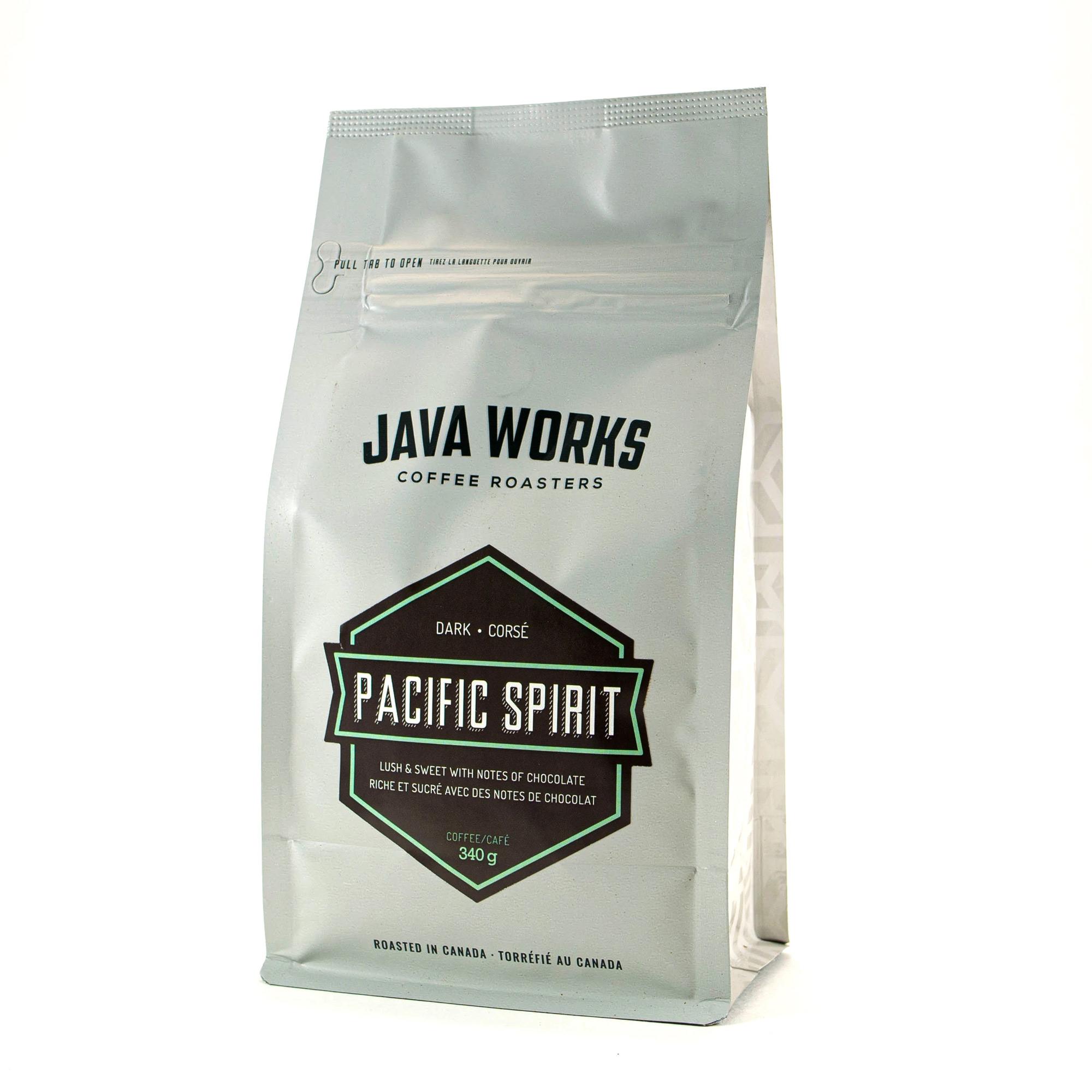 Java Works Pacific Spirit Blend Whole Beans - 12oz Bag