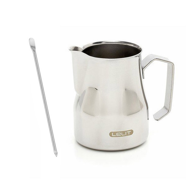 Lelit Stainless Steel Frothing Pitcher 25oz/750ml with Latte Art Pen - LEPLA301L