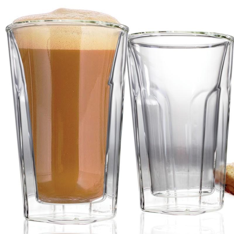Danesco Double Wall Latte Glass Set of 2 - 16oz/300ml
