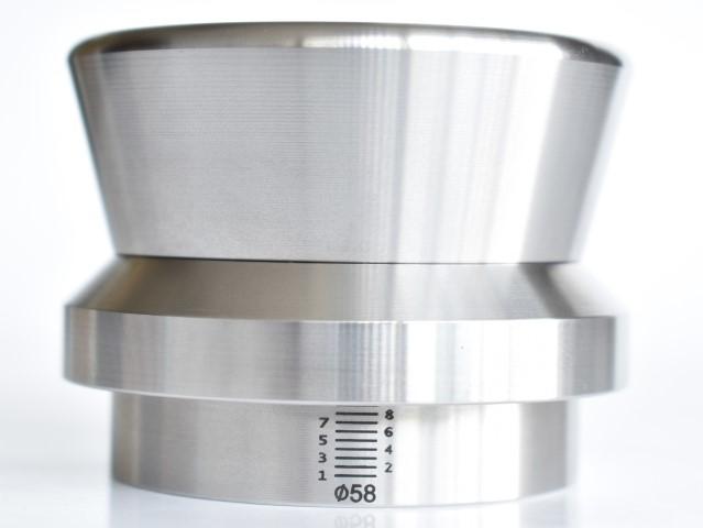 JoeFrex Level Push Tamper 58mm FLAT Stainless Steel   ( lts58 )