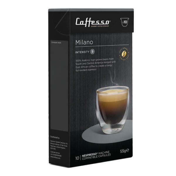 Caffesso Espresso Capsules - Milano - Box of 10