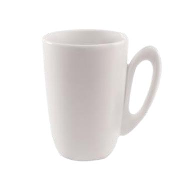 AXA White Round Latte Cup - Set of Six