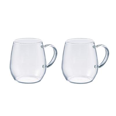 Hario Round Heatproof Glass Mug 360ml 2pc Set - RDM-1824