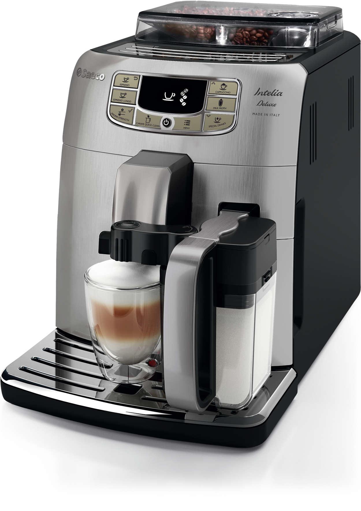 Saeco Intelia DELUXE One Touch Cappuccino Espresso Machine HD8771/93 OPEN BOX - IN STORE PURCHASE ONLY