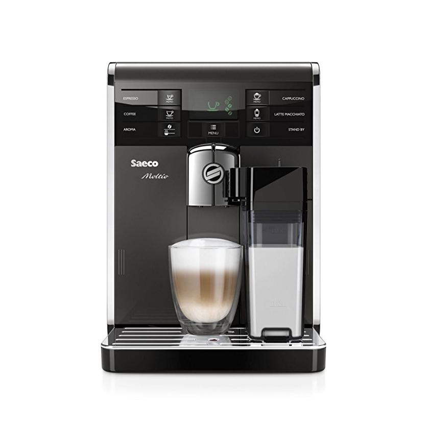 Saeco Moltio Carafe Espresso Machine Dark Silver with Metal Frame HD8869/47