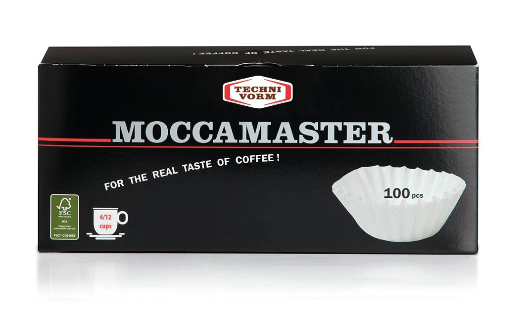 Technivorm Moccamaster CD Grand Basket Filters White 100 Pack 4 - 12 Cup