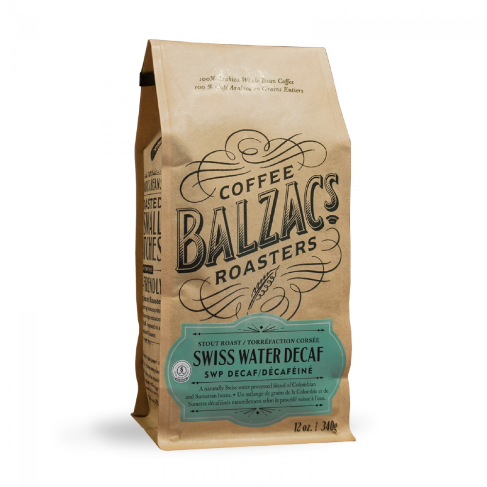 Balzac's Coffee Roasters Swiss Water Decaf Blend Beans - 12 oz