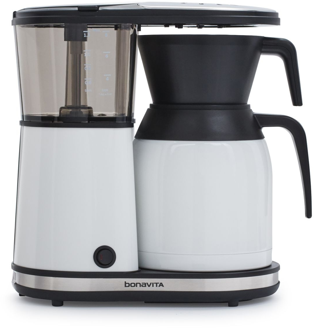 bonavita bv1900tswh 8 cup coffee maker with stainless steel carafe white espresso planet canada. Black Bedroom Furniture Sets. Home Design Ideas