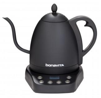 Bonavita Interurban 1.0L Variable Temperature Gooseneck Electric Kettle - Matte Black - BV07003US