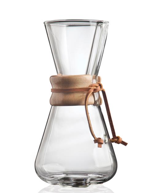 Chemex Classic Series 3 Cup Glass Coffee Maker
