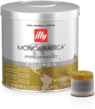 Illy IperEspresso Arabica Capsules - 21 Capsules - Colombia - Case of 6