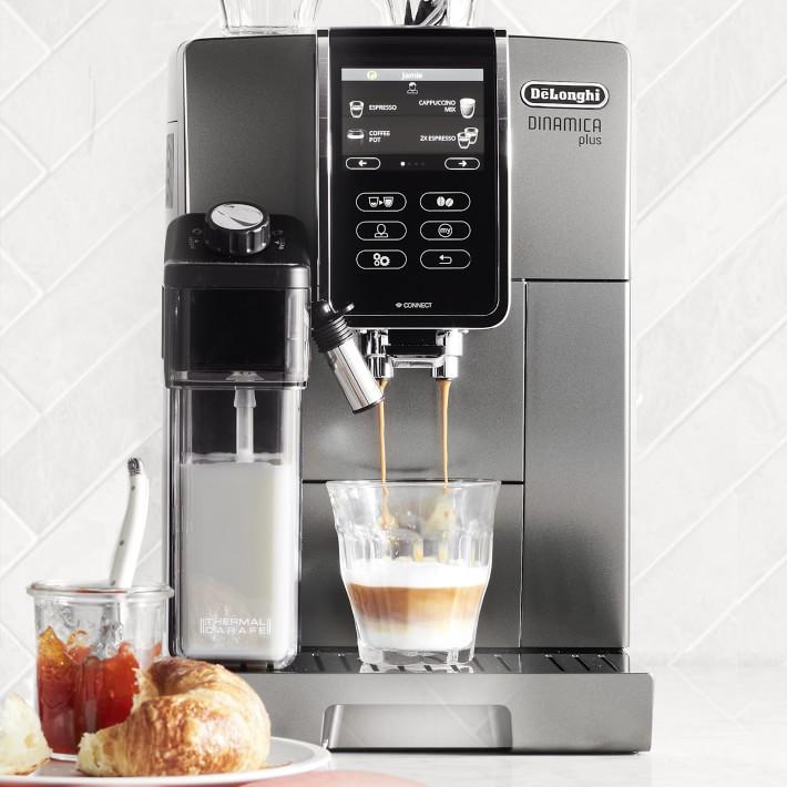 DeLonghi Dinamica Plus Silver Super Automatic Espresso Machine - ECAM37095TI